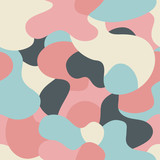 Abstract seamless vector pattern with pastel colors