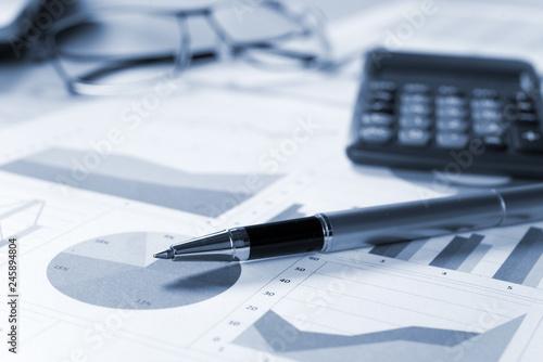 Business accounting. Blue tone © Minerva Studio