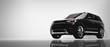 Leinwandbild Motiv Black SUV car on white background.