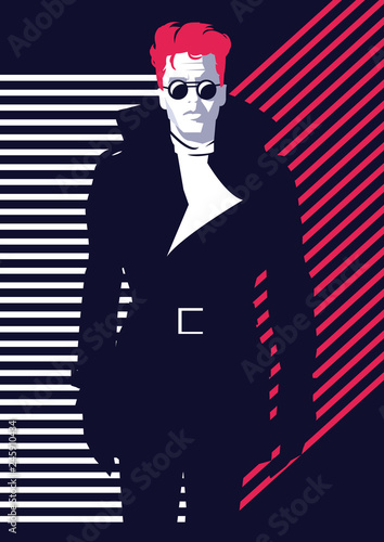 Fashion man in style pop art. Vector illustration © Yevhen