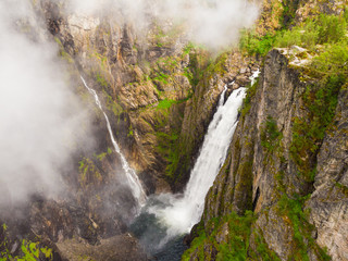 Voringsfossen waterfall, Mabodalen canyon Norway