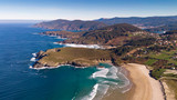 Beautiful aerial view of the coast