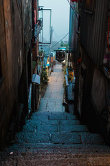 An stairway alley after a rainy evening © Frendy