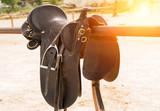 Rider on horse vintage retro style - 245940830