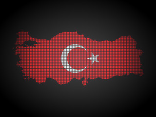 Turkey map vector illustration