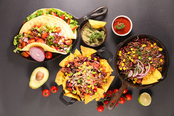 assorted mexican food