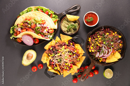 assorted mexican food © M.studio
