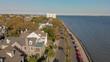 Panoramic aerial view of Charleston skyline, South Carolina