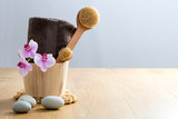Healthy concept of beauty and design: exfoliate, cleanse and massage