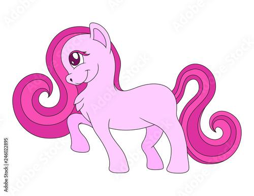 cute cartoon pony, vector graphics to design - 246022895