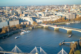 Waterloo and hungerford bridge on the river thames