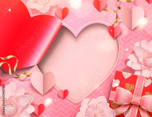 Valentine's day card template - 246071611