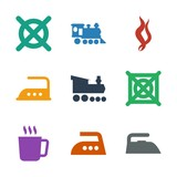 9 steam icons