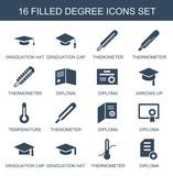 degree icons - 246084270