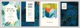 Set of abstract creative universal artistic templates.  - 246115209