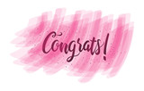 Congratulations Typography Handwritten Lettering Greeting Card Banner