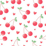 Pink cherry hearts