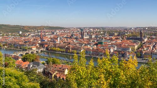 Leinwanddruck Bild Wuerzburg in Bavaria