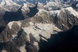 Himalayan mountain range with snow capped peaks.