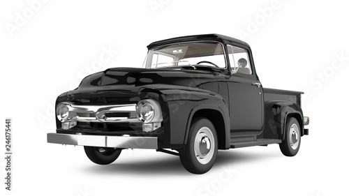 Vintage Pick-up Truck Isolated on White