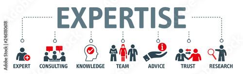 Banner expertise vector illustration concept © Trueffelpix