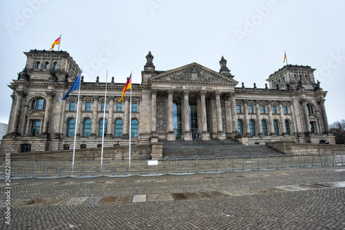 Berlin, Germany. Facade of the German Parliament of the Bundestag © mila103