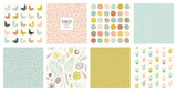 Creative seamless patterns and prints set. For fashion kid's wear, T-shirts, posters, cards, scrapbooking, birthday and party invitations. - 246229641
