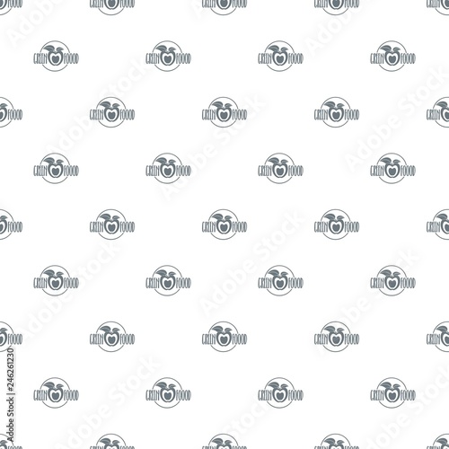 Eco food pattern vector seamless repeat for any web design © ylivdesign