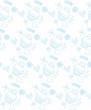 blue pattern kuki and flowers vector illustration - 246261403