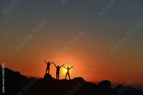 spectacular sunrise and the team's success - 246271283