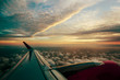 Sunset airplane view - 246290423