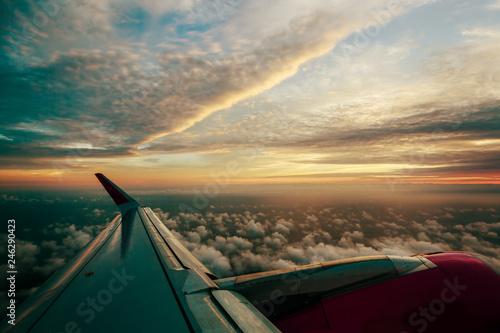 Sunset airplane view - 246290423