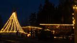 Christmas market at night at the Waldwipfelweg near Saint Englmar-Bavarian Forest-Bavaria-Germany - 246299415