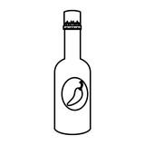 chili pepper sauce bottle - 246330605