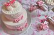 Torta - Battesimo - Rosa - Dettagli