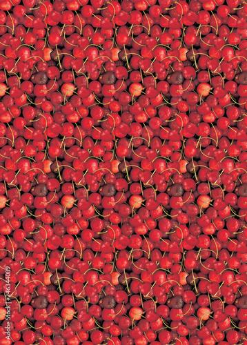 Foto Murales Rote Kirschen