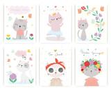 Set of  cute cat vector.  - 246355432