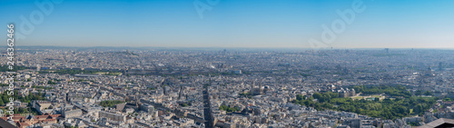 Morning aerial view of the famous Luxembourg Palace and downtown citypscape - 246362466
