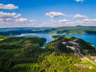 Jezioro Solińskie Bieszczady Panorama © Sławek Rakowski
