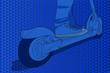 Detalle de un patinete eléctrico