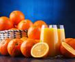 Quadro Glasses with freshly squeezed orange juice