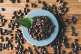 coffee beans with nobody