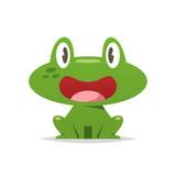 Cute cartoon frog vector isolated illustration