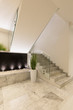 Modern marble staircase of luxury condominium