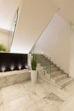 Modern marble staircase of luxury condominium