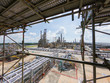 Leinwandbild Motiv Oil and gas refinery industrial plant