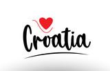 Croatia country text typography logo icon design