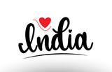 India country text typography logo icon design