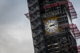 Houses of Parliament and The Big Ben clock tower under repair and maintenance, London, England, United Kingdom - 246425473