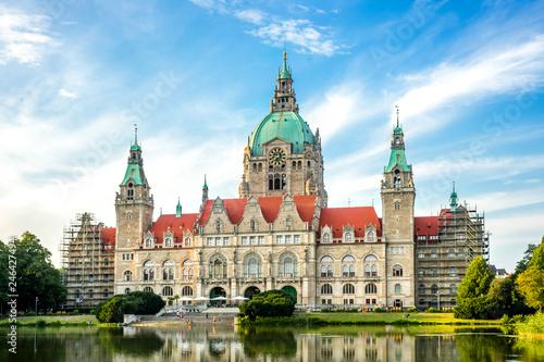 Leinwandbild Motiv Hannover Neues Rathaus